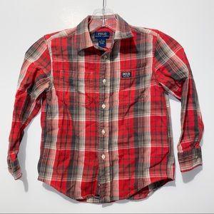 PAolo Ralph Lauren Flannel Plaid Shirt Sz 6